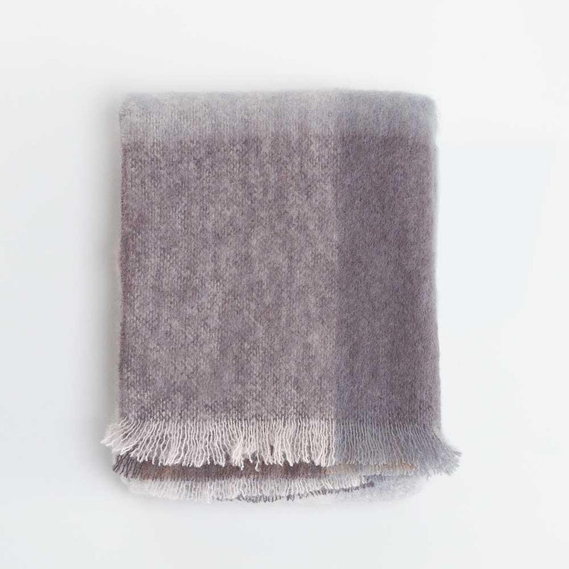 Wool Company Classic Mohair Throw Pebble -  - LIVING  from The Wool Company