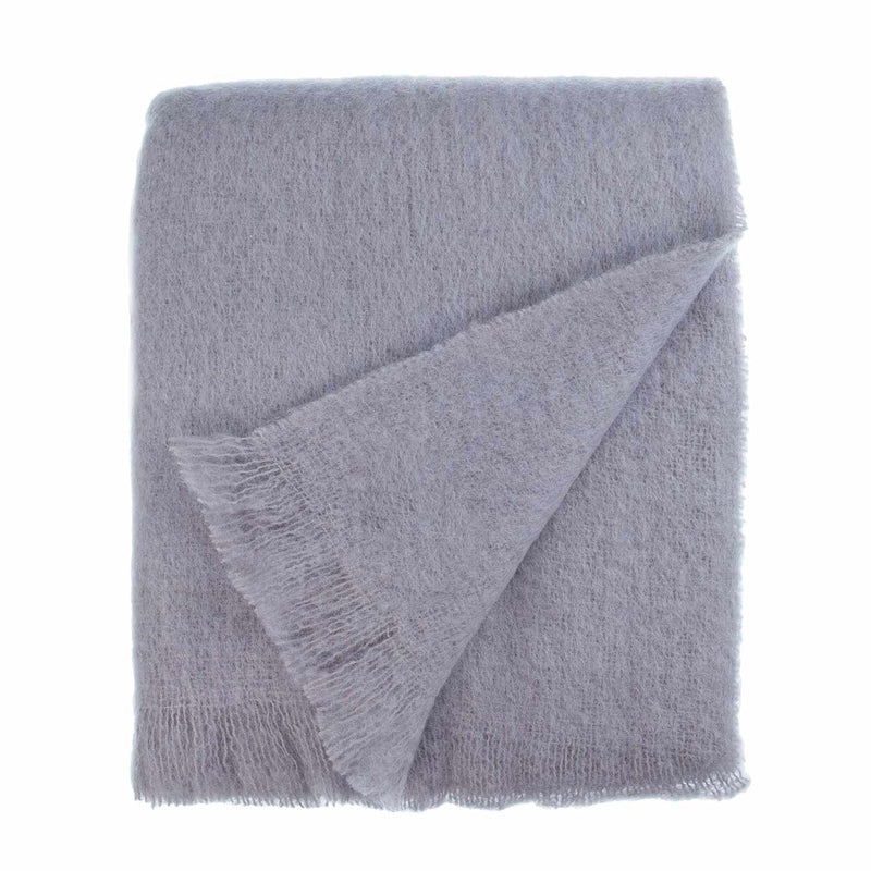 Wool Company Classic Mohair Throw Silver -  - LIVING  from The Wool Company