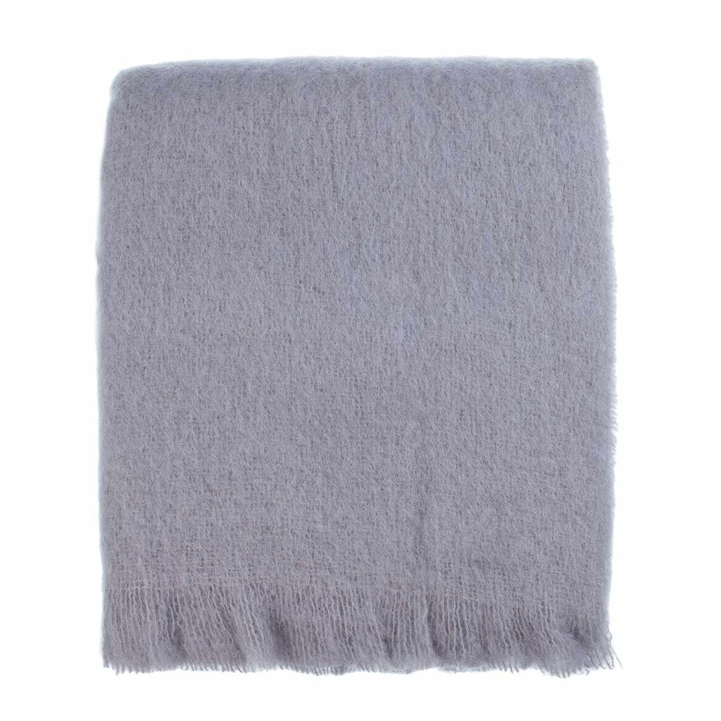 Buy Wool Company Classic Mohair Throw Silver From The Wool Company Online