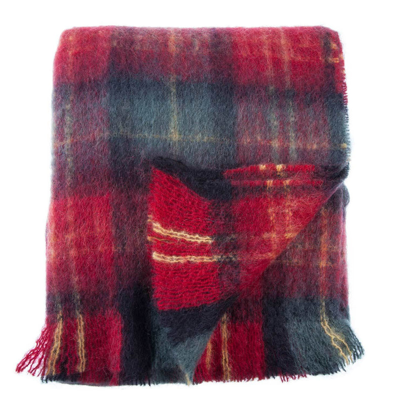 Wool Company Classic Mohair Throw Tartan LIVING The Wool Company