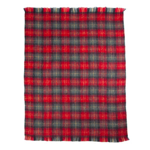 Wool Company Classic Mohair Throw Tartan -  - LIVING  from The Wool Company