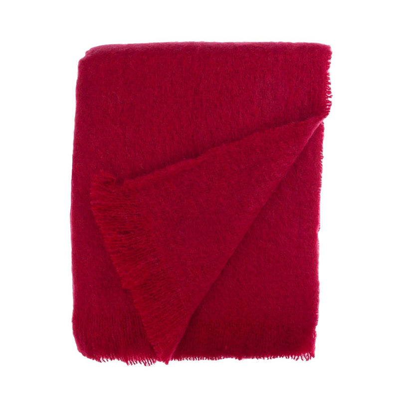 Wool Company Classic Mohair Throw Wine LIVING The Wool Company