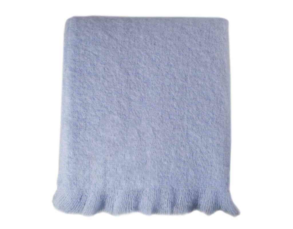 Wool Company Classic Mohair Throw Winter Sky -  - LIVING  from The Wool Company