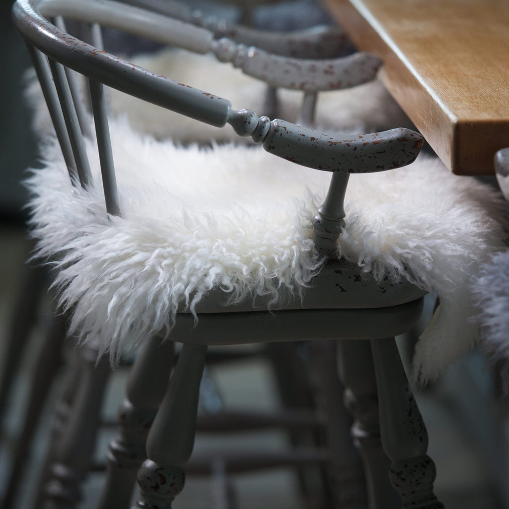 Yeti Sheepskin Seat Pads - Ivory / Square 40 x 40cm - SHEEPSKIN  from The Wool Company