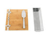 Well Served Cheese Set Bamboo Board Silver Alloy Accent Bit