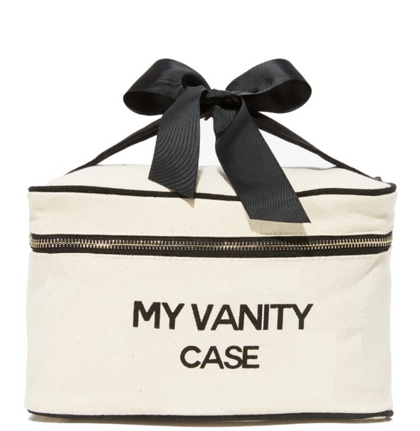 My Vanity Case Natural Canvas Material