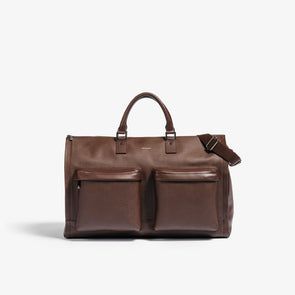 Hook & Albert Garment Weekender - Brown Leather