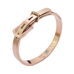 Belt Bangle - Rose Gold