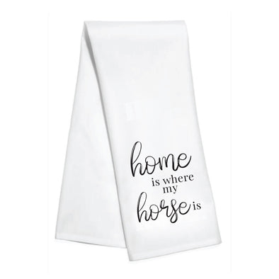 stylish equestrian home is where my horse is kitchen hand towel