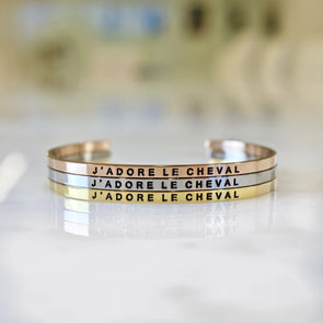J'Adore Le Cheval Bangle Equestrian Fashion Jewelry