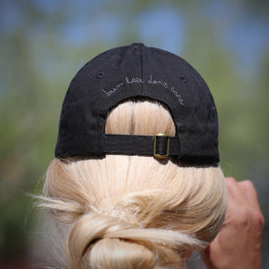 Bun Hair Don't Care Cap - Black