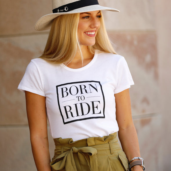 Equestrian Born To Ride Tee Fashion Apparel