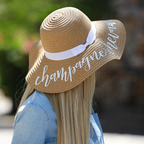 Champagne & Chevaux Floppy Fashion Hat