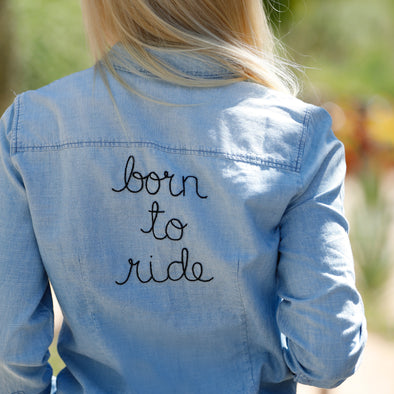 Born To Ride Denim Top