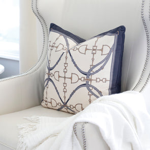 Luxury Velvet Bit Pillow Grey
