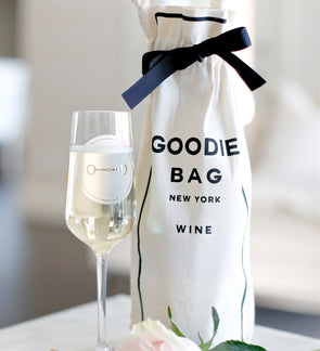 Wine Goodie Bag Natural Canvas Fabric