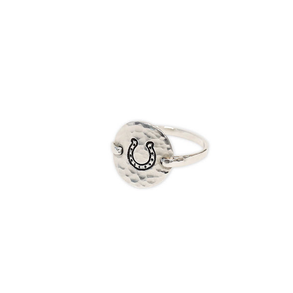 allison blase jewelry stylish equestrian hammered horseshoe ring