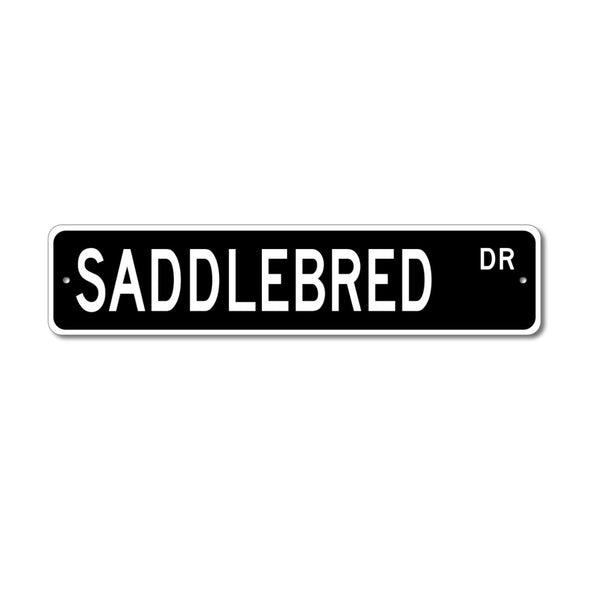 Horse Breed Street Sign