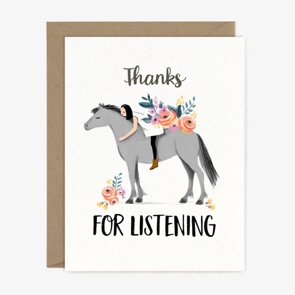 Thanks For Listening Card