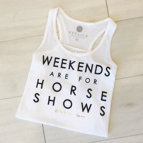 Weekends Are For Horse Shows Youth Tank