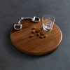 equestrian horse bit round wood cutting board