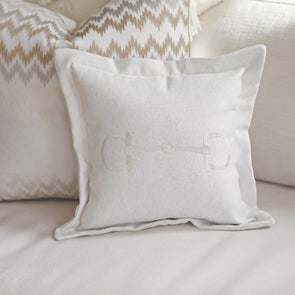 Adeline Bit Pillow Cover Embroidered Center Bit