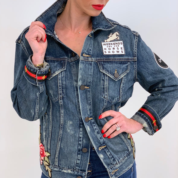 Aimee Soft Denim Jacket Equestrian Fashion Apparel