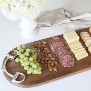 Oblong Cutting Board Hand-Polished Decorative Metal
