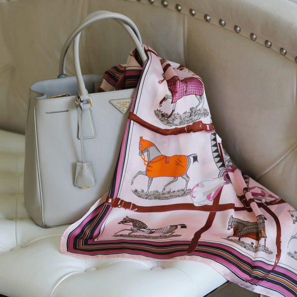 Equestrian Horse Scarf Pink