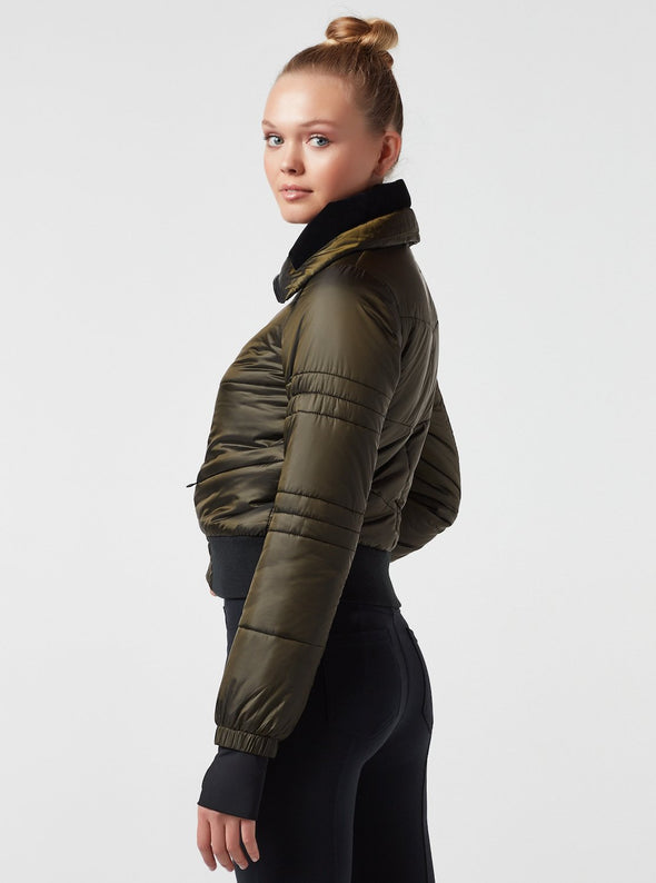 Bella Cropped Jacket - Forest Night