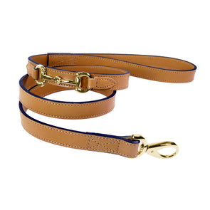 Belmont Dog Lead Cognac & Gold Puppy Accessory