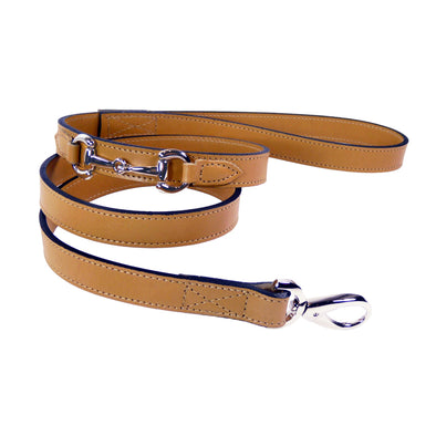 Belmont Dog Lead Cognac & Silver Puppy Accessory