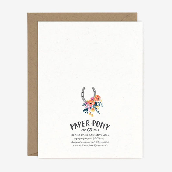 paper pony co equestrian birthday pony card