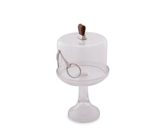 Equestrian Bit glass dessert Serving Stand arthur court