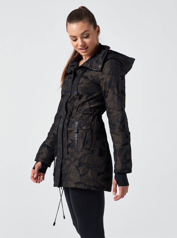 Camo Anorak Hooded Jacket Fashion Apparel
