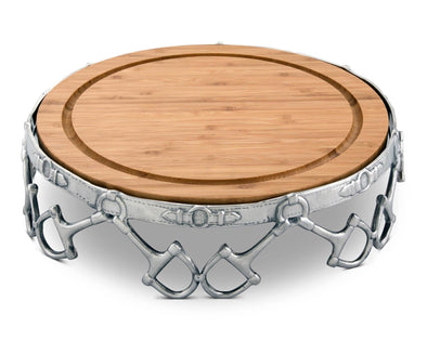 equestrian d-ring snaffle bit serving tray arthur court