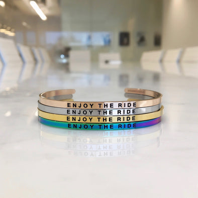 Enjoy The Ride Bangle Fashion Jewelry