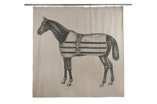 Horse Shower Curtain Equestrian Home Decor