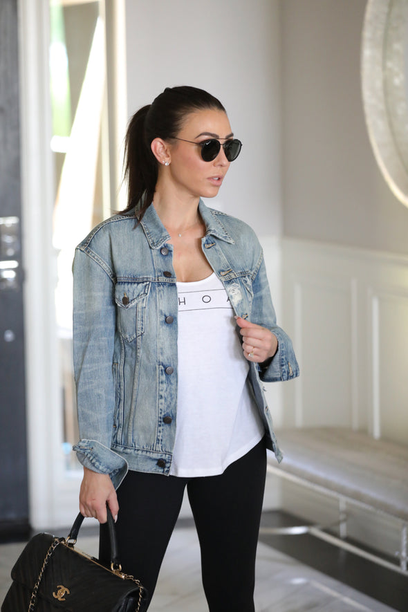 denim patch jacket equestrian style
