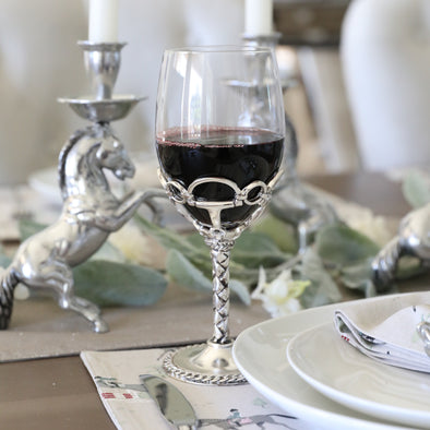 arthur court stylish equestrian francesca wine glass set of two glasses
