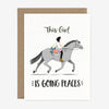 paper pony co equestrian this girl is going places card