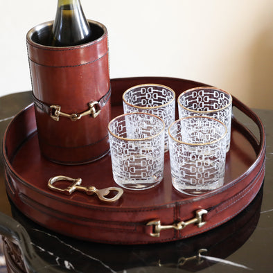 Golden Rocks Glass Set