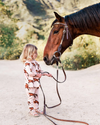 stylish equestrian milkbarn harley dress and leggings set with horses blush
