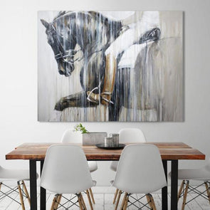 Harmonious Canvas Print Equestrian Artwork Horse Painting