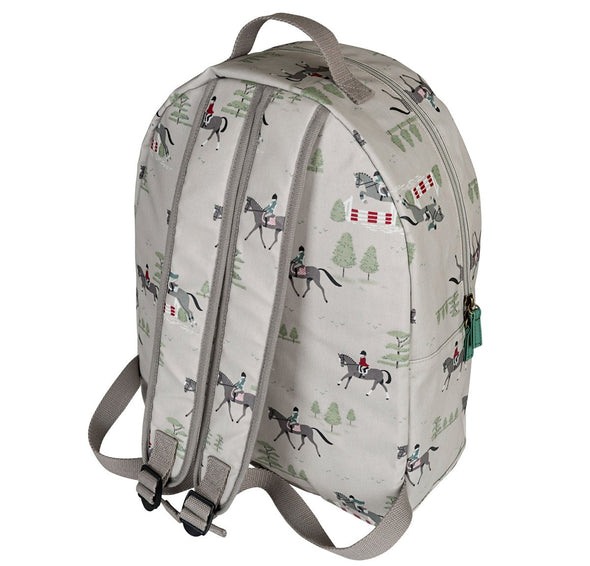 Horses Oilcloth Backpack