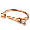 stylish equestrian horseshoe screw bangle gold, rose gold, silver