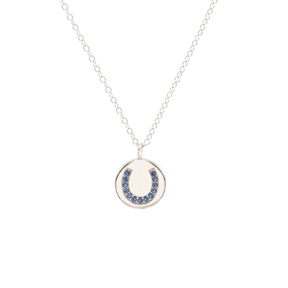 Horseshoe Charm Necklace Gold Equestrian Fashion Jewelry