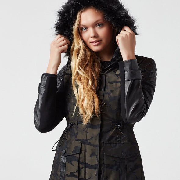 Blanc Noir Hybrid Camo Jacket Winter Fashion Apparel