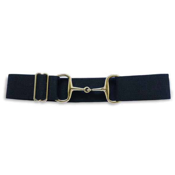 ellany kingston elastic equestrian belt with gold snaffle