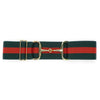 ellany kingston elastic belt with adjustable slide, red and green stripe
